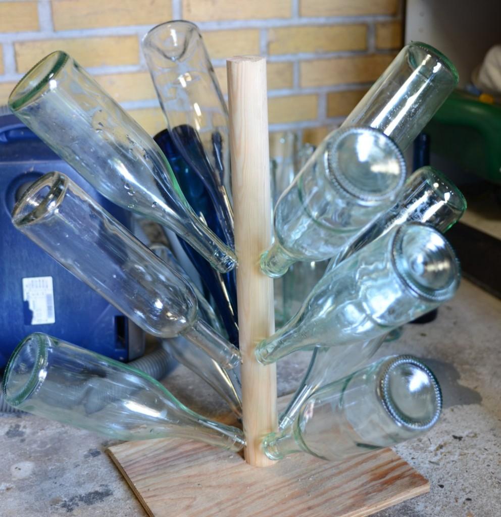Flasker tørres
