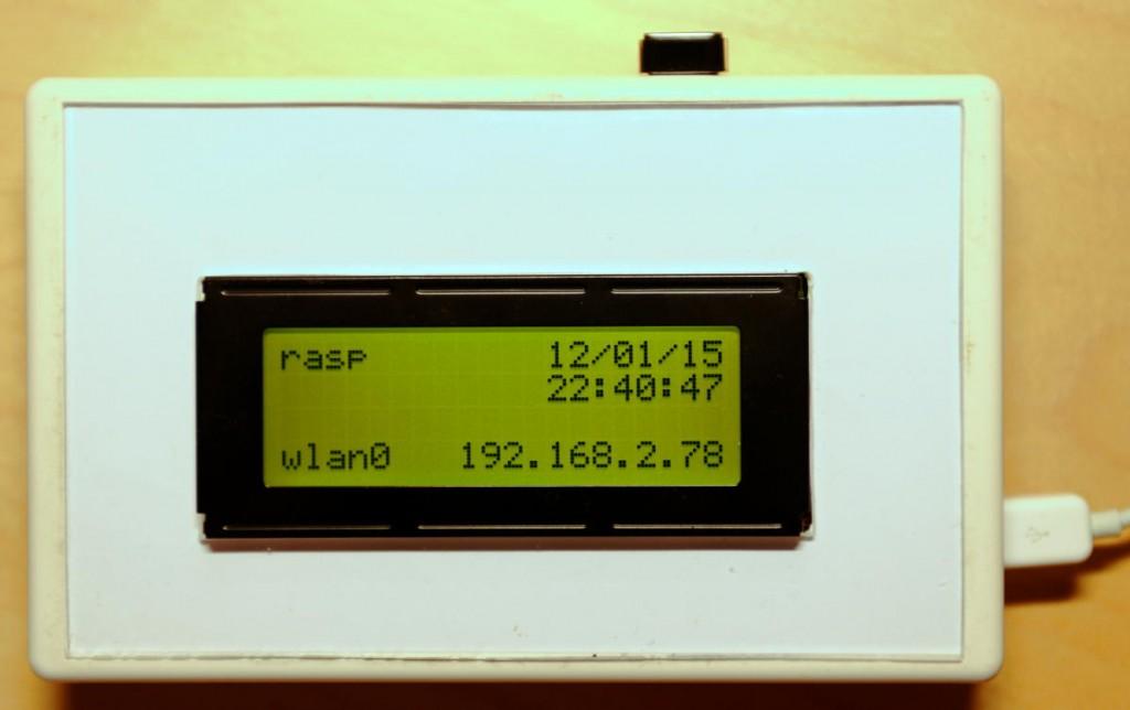 Raspberry Pi B+ med lcd